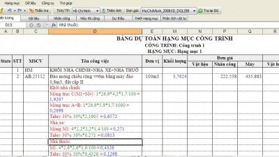 Khóa học Đo bóc tách khối lượng và Lập dự toán dự thầu Tại TPHCM 9