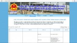 Thông tư số 11/2014/TT-BXD của Bộ Xây Dựng quy định công khai thông tin năng lực hoạt động xây dựng