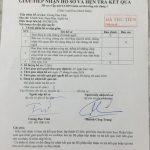 Danh sách kỹ sư đã có giấy biên nhận trả chứng chỉ của Sở XD TPHCM