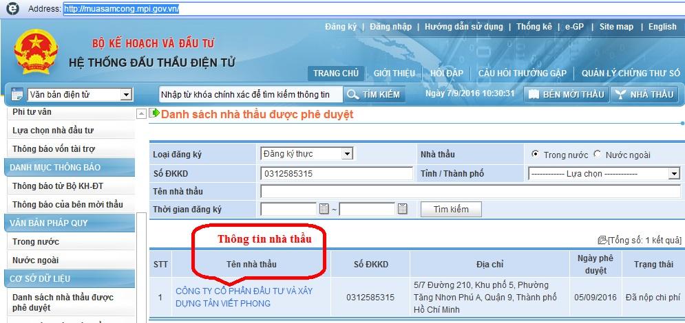Dịch vụ đăng ký trên mạng Đấu thầu Quốc Gia 4