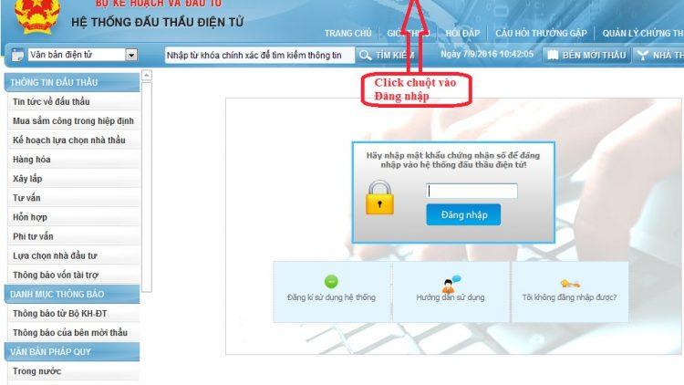 Dịch vụ đăng ký trên mạng Đấu thầu Quốc Gia 5