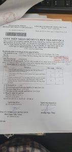 Biên nhận trả hồ sơ cấp chứng chỉ năng lực xây dựng của Sở Xây Dựng TPHCM